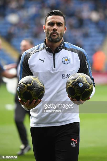 Vicente Iborra of Leicester City warms up prior to the Premier League match between Leicester City and Newcastle United at The King Power Stadium on...