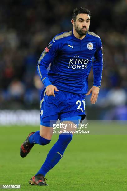 Vicente Iborra of Leicester in action during The Emirates FA Cup Third Round Replay match between Leicester City and Fleetwood Town at the King Power...