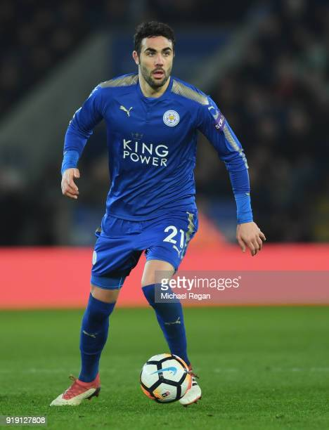 Vicente Iborra of Leicester in action during The Emirates FA Cup Fifth Round match between Leicester City and Sheffield United at The King Power...