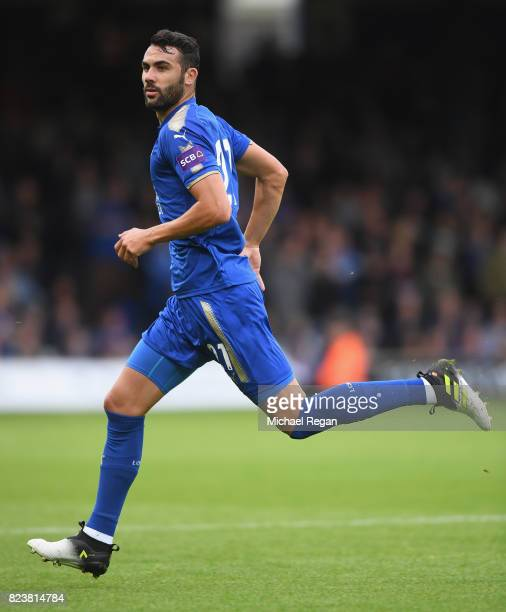 Vicente Iborra of Leicester in action during the preseason friendly match between Luton Town and Leicester City at Kenilworth Road on July 26 2017 in...