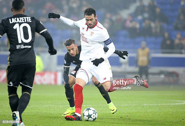 Vicente Iborra of Sevilla FC in action during the UEFA Champions League match between Olympique Lyonnais and Sevilla FC at Parc OL on December 7 2016...