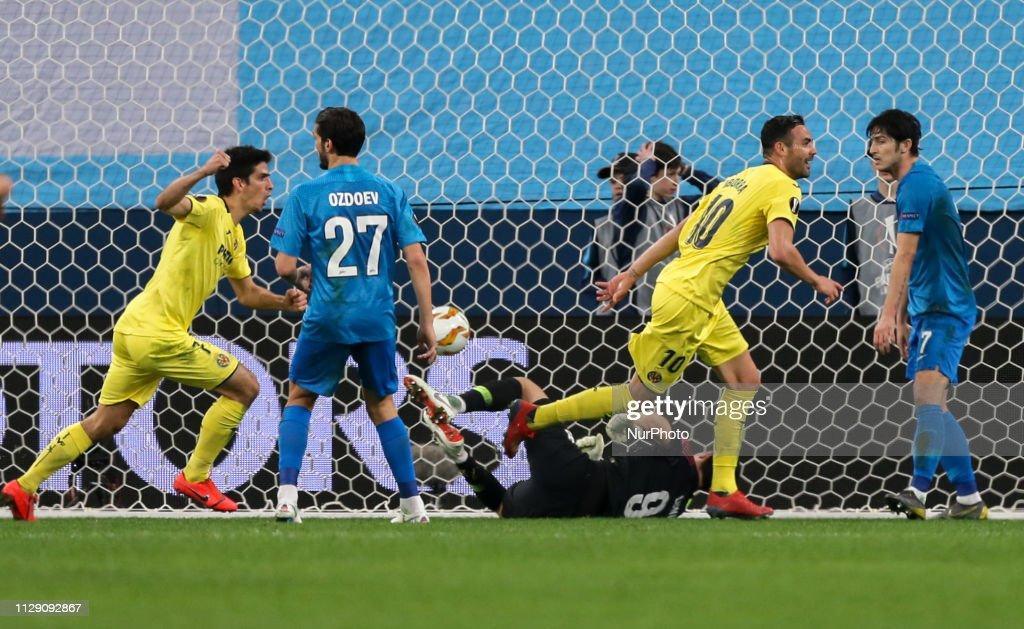 Zenit v Villarreal - UEFA Europa League Round Of 16: First Leg : News Photo