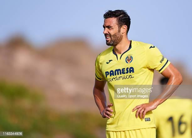 Vicente Iborra of Villarreal CF looks on during a Pre-Season Friendly match between Villarreal and Levante on July 20, 2019 in Parador El Saler,...