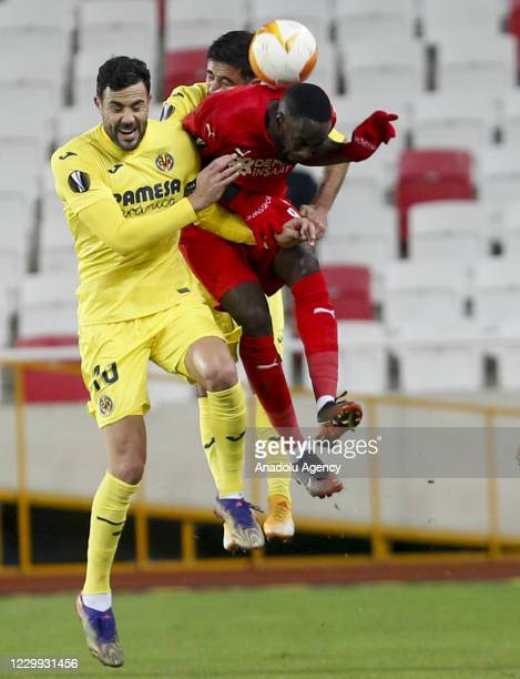 Vicente Iborra of Villarreal in action during UEFA Europa League Group I match between Demir Grup Sivasspor and Villarreal at the 4 Eylul Stadium in...