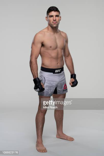 Vicente Luque poses for a portrait during a UFC photo session on October 3, 2018 in Las Vegas, Nevada.
