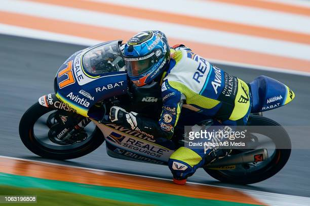 Vicente Perez of Spain and Reale Avintia rides during the MotoGP of Valencia Race at Ricardo Tormo Circuit on November 18 2018 in Valencia Spain