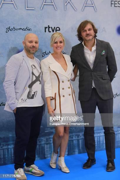 Vicente Romero Maggie Civantos and Salva Reina attend the presentation of 'Malaka' TV Series at Festval of Vitoria 2019 on September 02 2019 in...