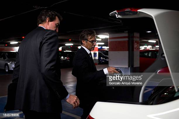 Vicente Sierra Rocafort a lawyer representing Gruenenthal takes a taxi after the first day of a trial involving the German pharmaceutical company...