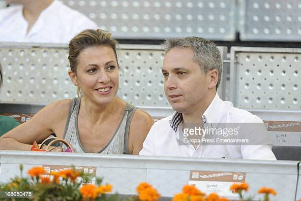 Vicente Valles and Ana Blanco attend the Mutua Madrid Open tennis tournament at La Caja Magica on May 12 2013 in Madrid Spain