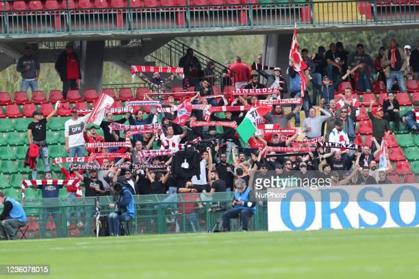 Vicenza fans during the Italian Football Championship League BKT Ternana Calcio vs LR Vicenza on October 23, 2021 at the Stadio Libero Liberati in...
