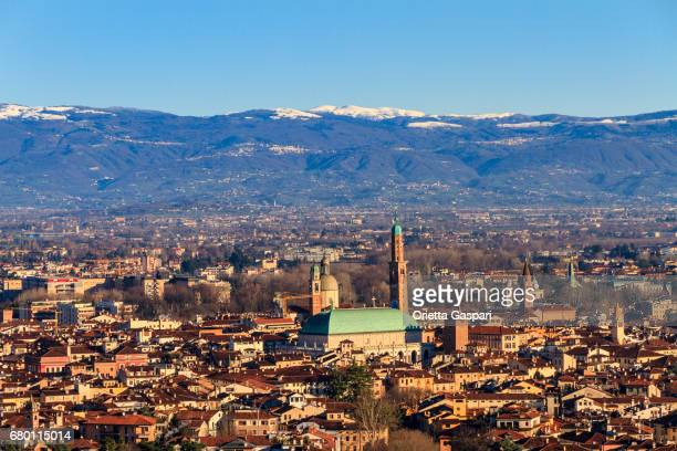 Vicenza seen from above, Italy
