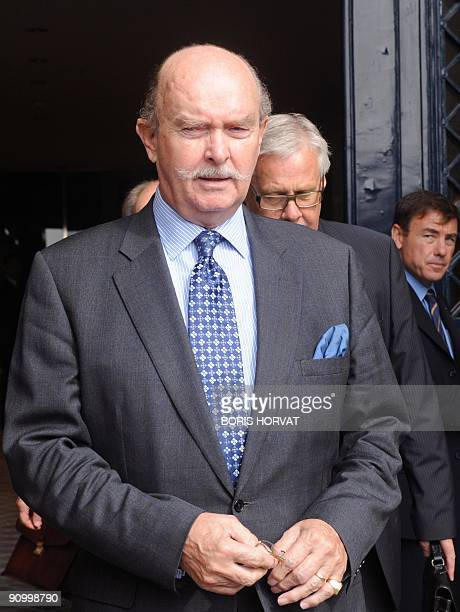 FIA vicepresident Dereck Ledger leaves the FIA headquarters in Paris on September 21 2009 for an hearing at the World Motor Sports Council after the...