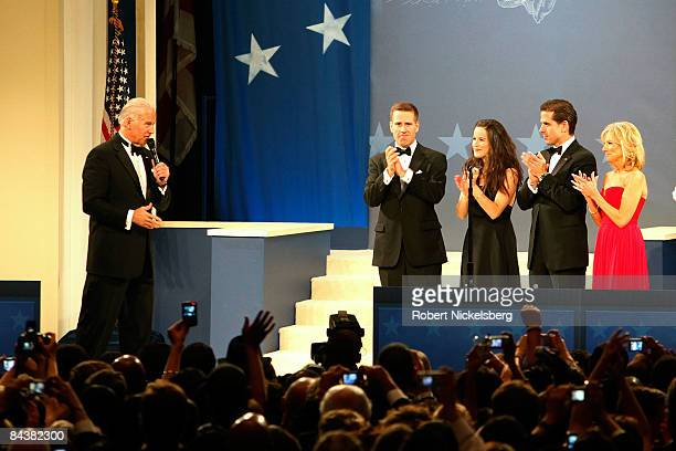VicePresident Joe Biden and his wife Jill Biden along with their family attend the Biden Home States Ball at the Washington Convention Center on...