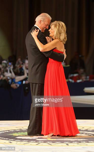 VicePresident Joe Biden dances his wife Jill at the CommanderInChief's Inaugural Ball January 20 2009 in Washington DC Barack Obama was sworn in as...