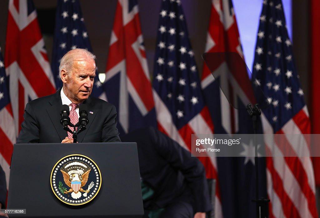 United States Vice President Joe Biden Visits Australia : News Photo