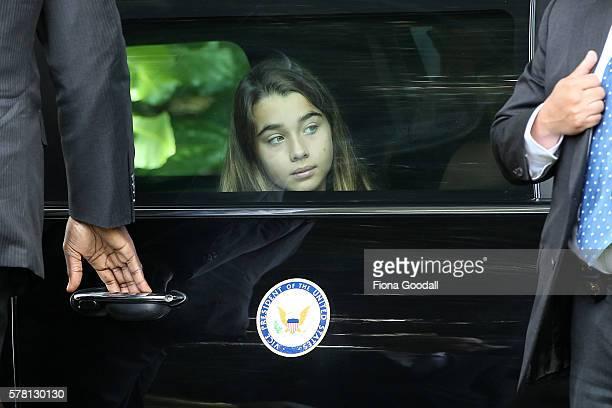 VicePresident Joe Biden's grand daughter Natalie Biden arrives at Government House on July 21 2016 in Auckland New Zealand Biden is visiting New...