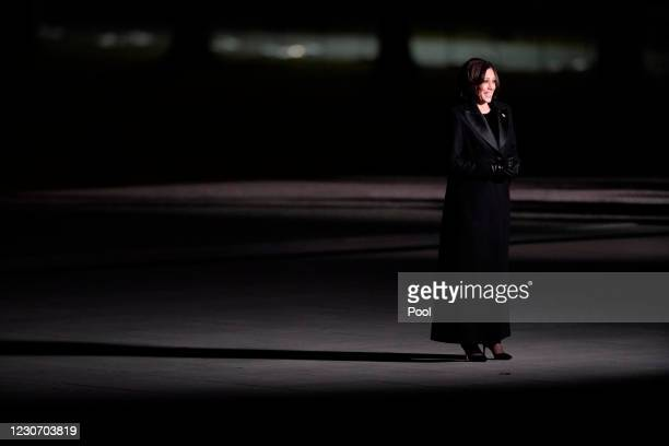 Vice-President Kamala Harris participates in a televised ceremony at the Lincoln Memorial on January 20, 2021 in Washington, DC. President Joe Biden...
