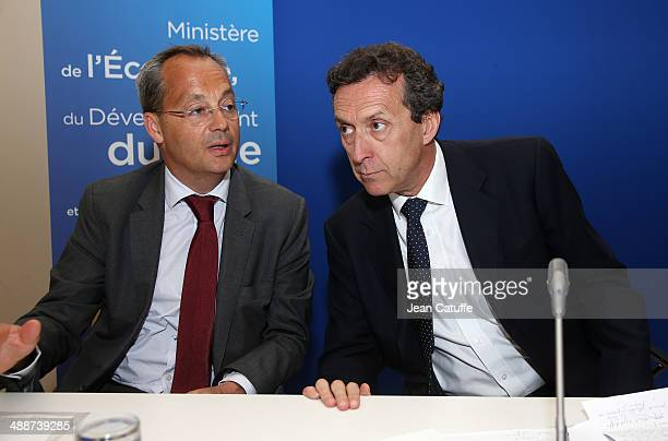 Vice-President of Alstom and President of the Alstom Renewable Power Sector Jerome Pecresse and CEO of EDF Energies Nouvelles Antoine Cahuzac...