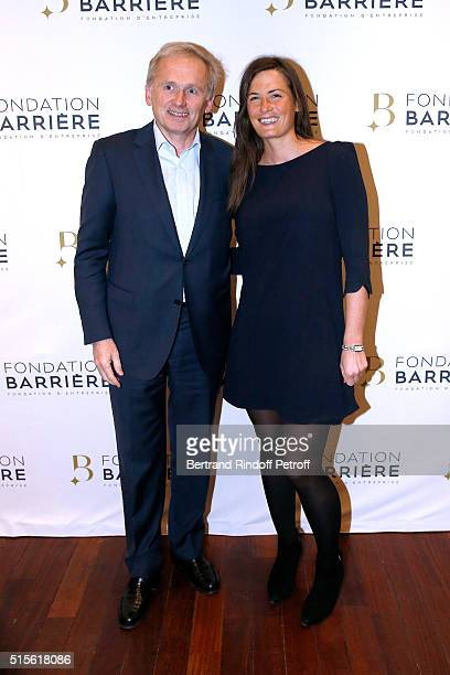 VicePresident of M6 Group Thomas Valentin and his Daughter Marine Valentin attend the Premiere of 'Five' Laureat Du Prix Cinema 2016 Fondation Diane...