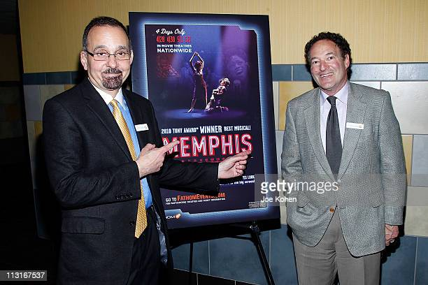 VicePresident of NCM Fathom Dan Diamond and VP Fathom Properties Jim Millman attendsthe New York Premiere of 'Memphis' at Regal Union Square Theatre...
