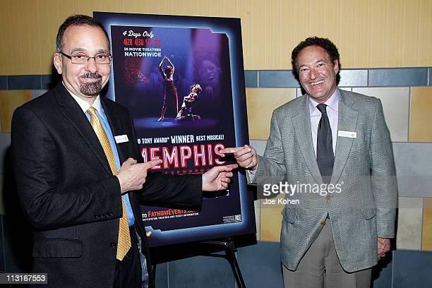 VicePresident of NCM Fathom Dan Diamond and VP Fathom Properties Jim Millman attend the New York Premiere of 'Memphis' at Regal Union Square Theatre...