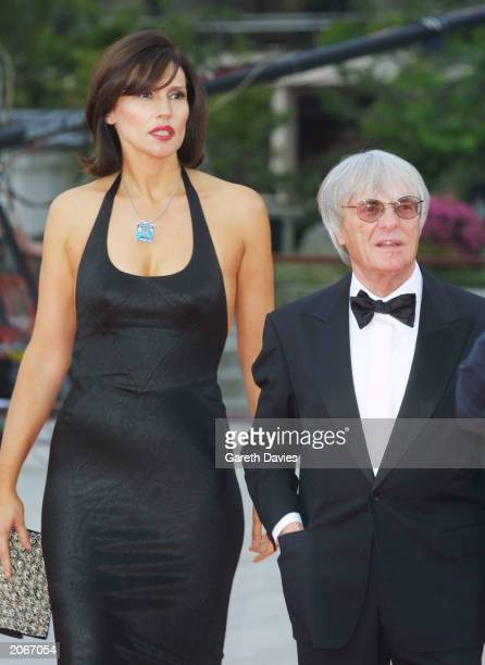 Vice-President of the FIA Bernie Ecclestone and his wife Slavica attend the Third Annual Laureus World Sports Awards at the Grimaldi Forum, Monte...