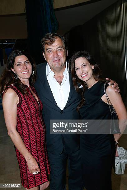 VicePresident of the Friend's of Palais De Tokyo Denise Vilgrain with her husband Alexandre Vilgrain and Alexandra Fain attend the Friend's of Palais...
