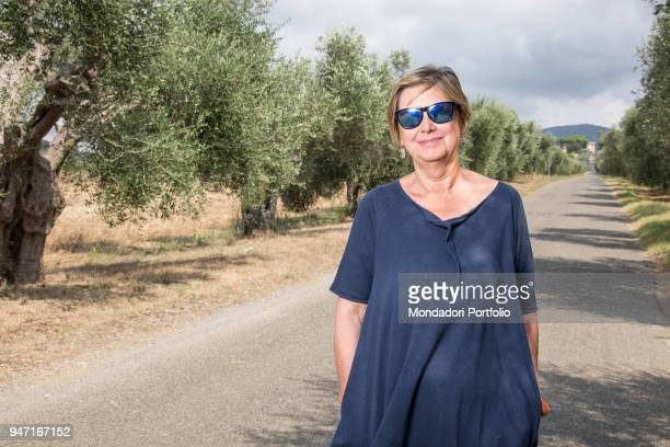 Vicepresident of the Italian Senate Linda Lanzillotta in the coutryside of Monte Argentario Borgo Carige Italy 18th August 2016
