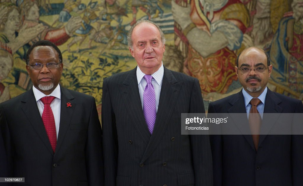 King Juan Carlos I of Spain Receives African Prime Ministers