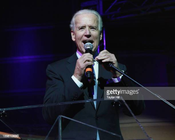 VicePresident of the United States Joseph R Biden speaks at the 2013 Green Inaugural Ball at NEWSEUM on January 20 2013 in Washington DC