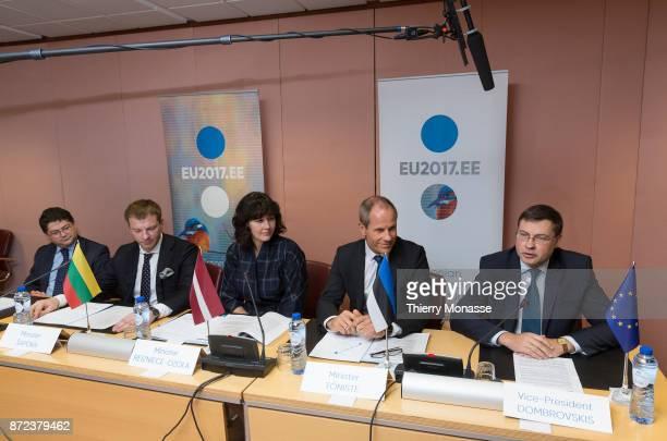 EBRD VicePresident Pierre Heilbronn Lithuanian Minister of Finance Vilius Sapoka Latvian Minister of Finance Dana ReiznieceOzola Estonain Minister of...