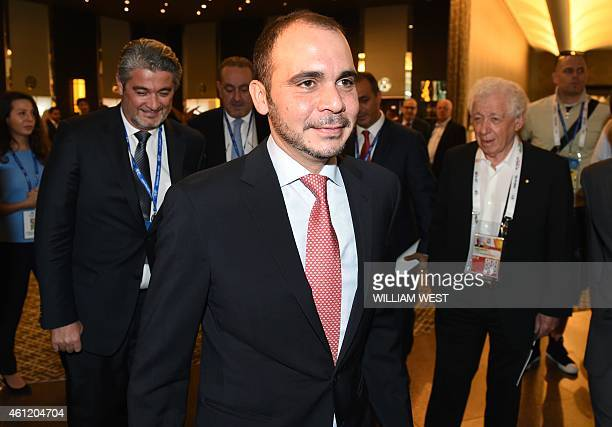 Vice-president Prince Ali bin Al Hussein of Jordon arrives for the Asian Football Confederation Extraordinary Congress meeting in Melbourne before...