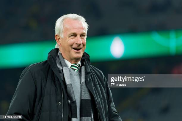 Vice-President Rainer Bonhof of Borussia Moenchengladbach looks on during the DFB Cup second round match between Borussia Dortmund and Borussia...