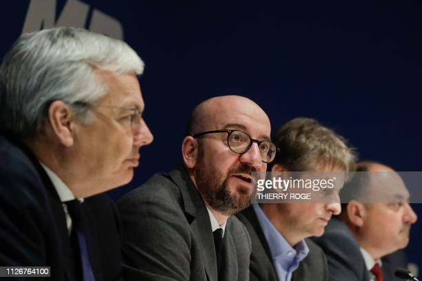 VicePrime Minister and Minister of Foreign Affairs and Defence Didier Reynders Belgian Prime Minister Charles Michel MR chairman Olivier Chastel and...