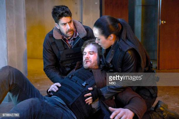 """Viceroy"""" Episode 216 -- Pictured: Adam Goldberg as Kilroy, Clive Standen as Bryan Mills, Jessica Camacho as Santana --"""