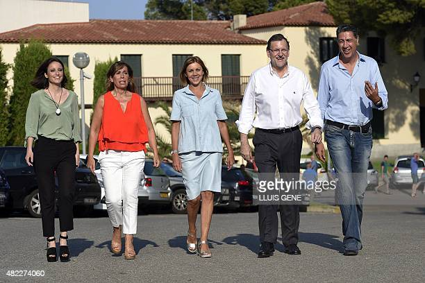 Vicesecretary of studies and programs of the Popular Party Andrea Levy General Secretary of Partido Popular Maria Dolores de Cospedal President of...