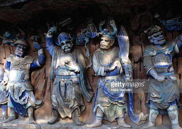 Vicinities of Dazu Sculpted scene of buddhist caves of Baoding Shan