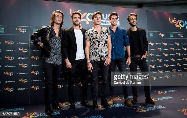 Vicio attends 40 Principales Awards candidates dinner 2017 on September 14 2017 in Madrid Spain