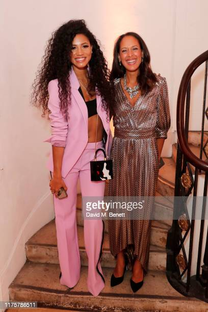 Vick Hope and Andrea Thompson attend the Marie Claire Future Shapers Awards in partnership with Neutrogena at One Marylebone on September 19 2019 in...
