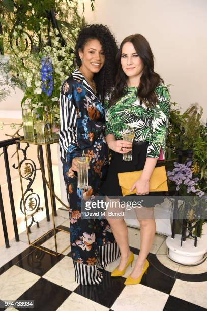 Vick Hope and Kat Shoob attend Maison St Germain x House of Holland Opening Night in Mayfair on June 14 2018 in London England