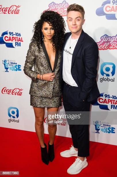 Vick Hope and Roman Kemp attend the Capital FM Jingle Bell Ball with CocaCola at The O2 Arena on December 9 2017 in London England