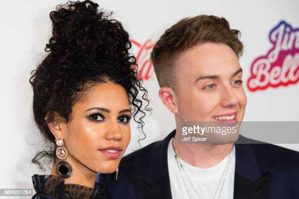 Vick Hope and Roman Kemp attend the Capital FM Jingle Bell Ball with CocaCola at The O2 Arena on December 10 2017 in London England