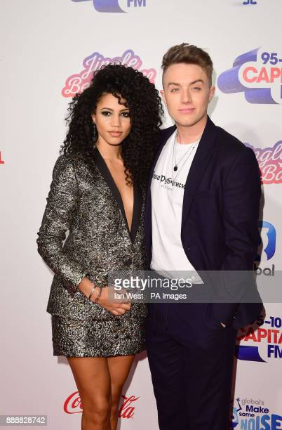 Vick Hope and Roman Kemp during day one of Capital's Jingle Bell Ball 2017 at the O2 Arena London