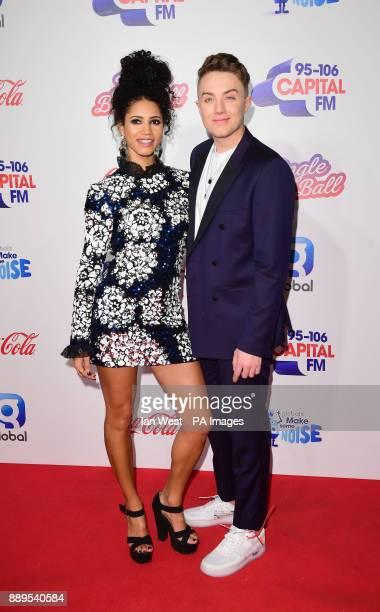 Vick Hope and Roman Kemp during day two of Capital's Jingle Bell Ball 2017 at the O2 Arena London