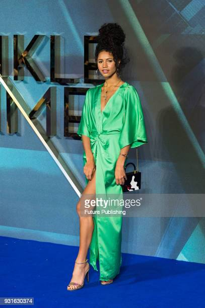 Vick Hope arrives for the European film premiere of 'A Wrinkle in Time' at the BFI Imax cinema in the South Bank district of London March 13 2018 in...