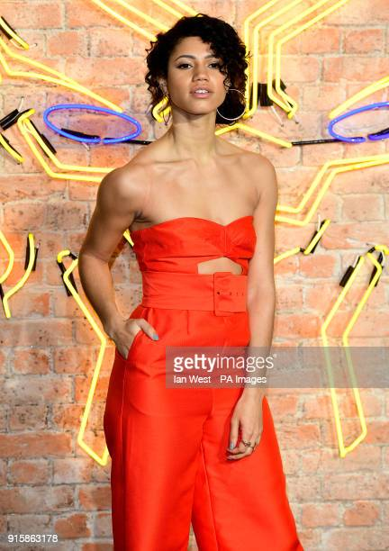 Vick Hope attending The Black Panther European Premiere at The Eventim Apollo Hammersmith London