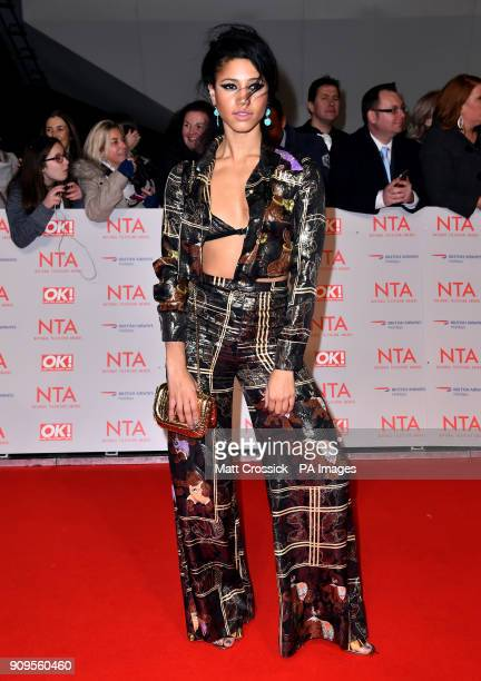 Vick Hope attending the National Television Awards 2018 held at the O2 Arena London