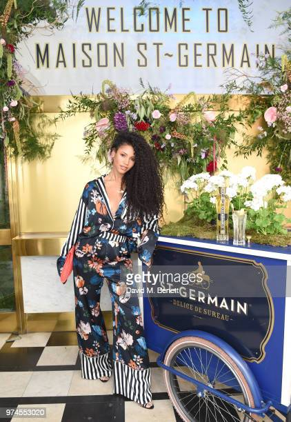Vick Hope attends Maison St Germain x House of Holland Opening Night in Mayfair on June 14 2018 in London England