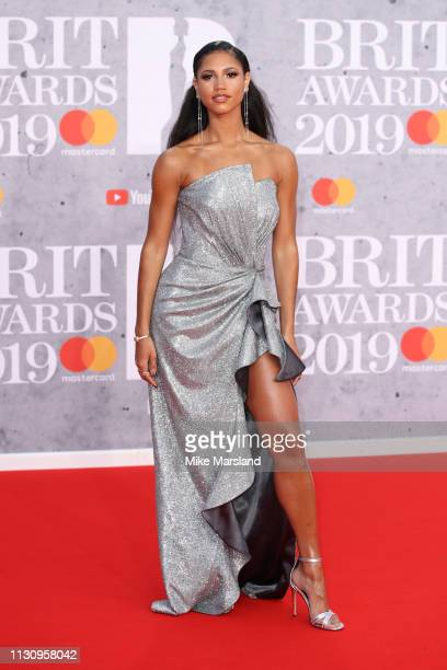Vick Hope attends The BRIT Awards 2019 held at The O2 Arena on February 20 2019 in London England