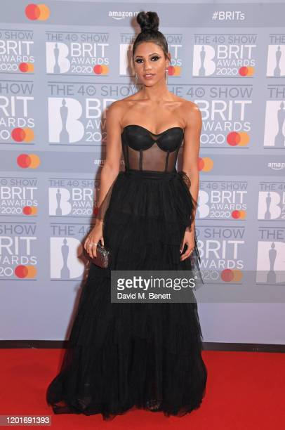 Vick Hope attends The BRIT Awards 2020 at The O2 Arena on February 18, 2020 in London, England.